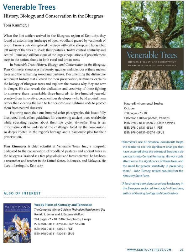 Catalog Venerable Trees