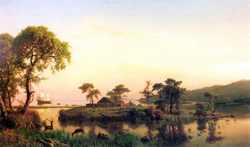 Painting by Bierstadt